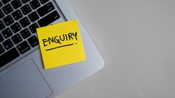 Enquiry, Contact Us Assistance Support Help Concept.