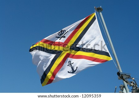 Ensign of the Belgian Navy - stock photo