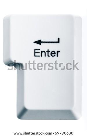 Enter key isolated on white background - stock photo
