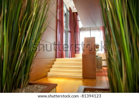 enter to hotel - stock photo