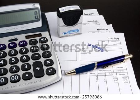 Entered Invoice - stock photo