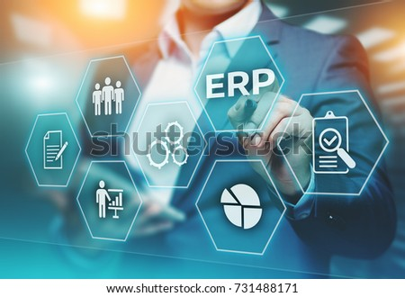 Enterprise Resource Planning ERP Corporate Company Management Business Internet Technology Concept. #731488171