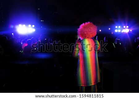 entertain performance shown on party night with on stage with sport light
