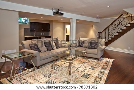 Entertainment room - stock photo