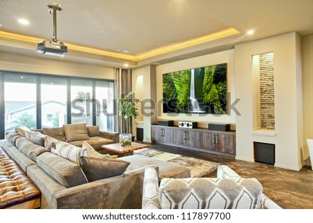 Entertainment Room in Luxury Home #117897700