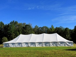 entertainment tent in the meadow