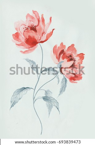 Enthusiasm is bold and unrestrained of flowers series 2, the leaves and flowers art design