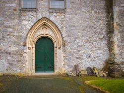 Entrance door on a Church in Ireland