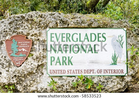 entrance, Everglades National Park, Florida, USA