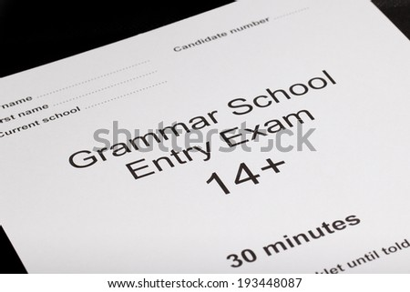 Entrance exam paper for an exam