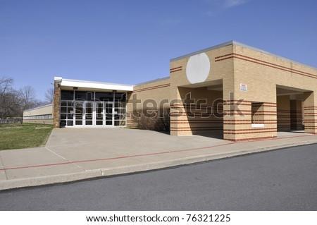 Entrance for a modern elementary school #76321225
