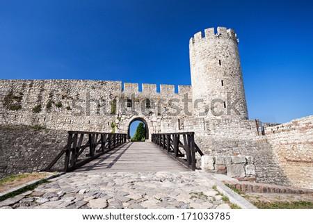 Entrance Gate in Kalemegdan Fortress, Belgrade, Serbia