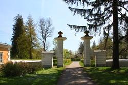Entrance gate of Palace and park ensemble