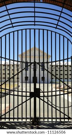 Entrance gate to Freemantle jail in Australia