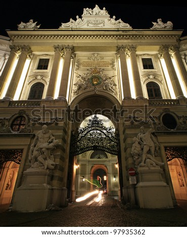 Entrance into imperial palace of Vienna