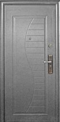 Entrance metal doors