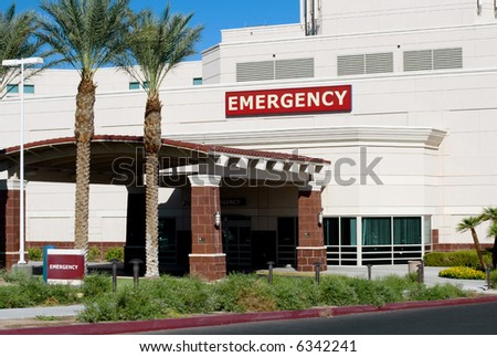 Entrance of a hospital emergency room