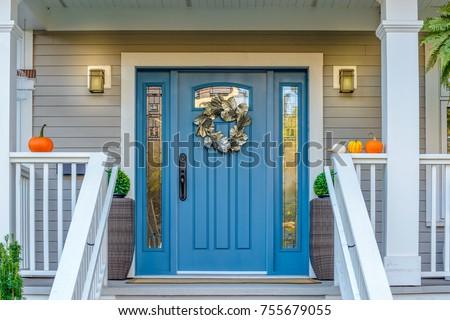 Entrance of a house. #755679055