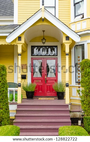 Entrance of a house in Vancouver, Canada.