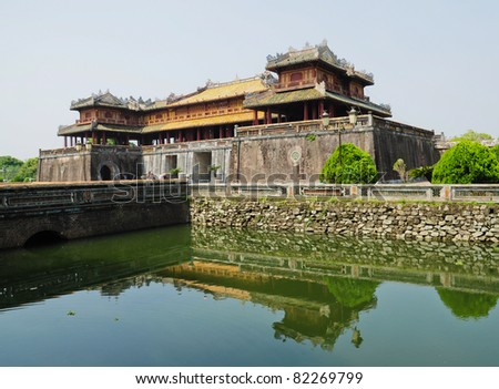 Entrance of Citadel, Hue, Vietnam