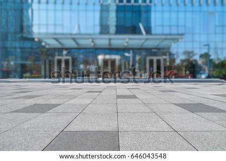 entrance of modern office building #646043548