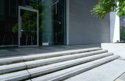 Entrance of modern office building in Putrajaya,Malaysia.