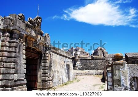 Entrance of old military fort, Elvas , Portugal