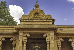 Entrance of the Kelaniya Buddhist Temple, Colombo, Sri Lanka