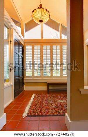 Entrance room with front black door