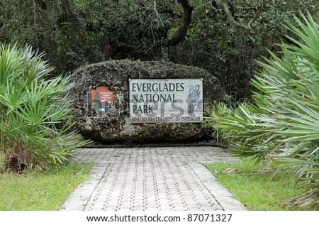 Entrance Sign to Everglades National Park, Florida