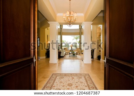 entrance to a high class house