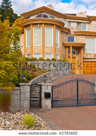 Entrance to a luxury house in Vancouver, Canada.