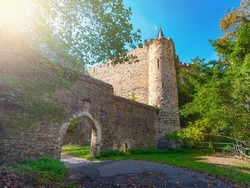 entrance to an abandoned medieval castle