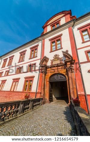 Entrance to baroque castle in Zakupy, Doksy region, Czech republic Zdjęcia stock ©