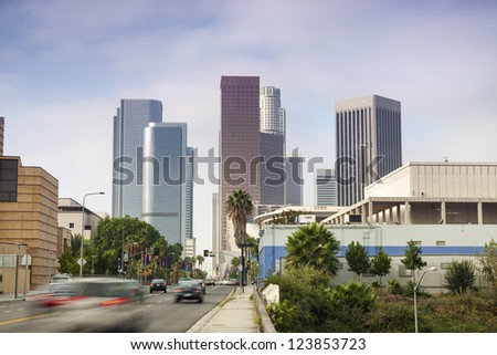 Entrance to Financial District in Los Angeles, California