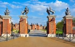 Entrance to Hampton Court Palace, London, UK