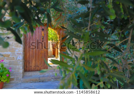entrance to inner courtyard of...