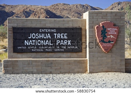 Entrance to Joshua Tree National Park, California