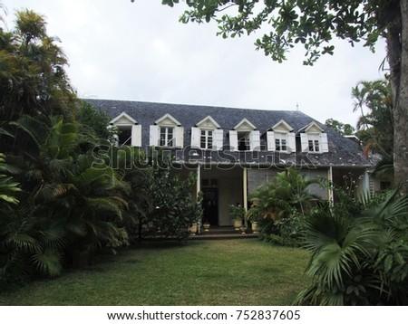 Entrance to Maison Eureka, a well-preserved creole house, Mauritius