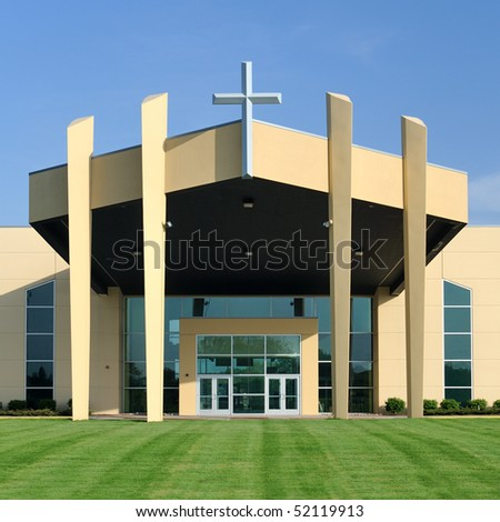 Entrance to modern church