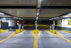 Entrance to multi-storey underground car parking garage