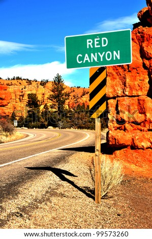 Entrance to Red Canyon, near Bryce Canyon, Utah