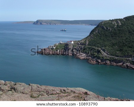 Entrance to St John's Harbour.  Newfoundland.  Canada. - stock photo