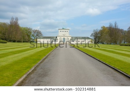 Entrance to the Air Forces Memorial at Runnymede