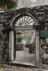 Entrance to the Archaeological Museum, Budva, Montenegro