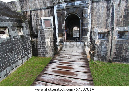 Entrance to the Citadel at Brimstone Hill Fortress - Saint Kitts