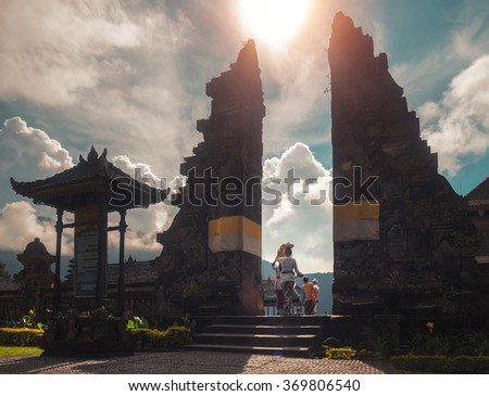 Entrance to the Hindu temple. Bali, Indonesia