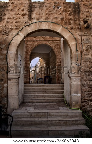 Entrance to the old city in Monastir, Tunisia\ Part of the old city fortification with the entrance to the old city. Monastir, Tunisia