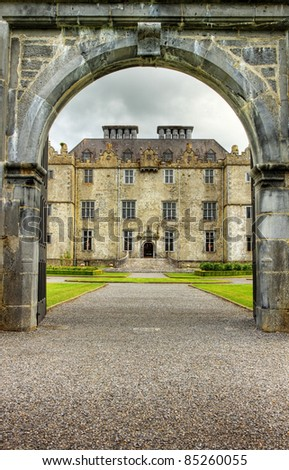 Entrance to the Portumna castle and gardens in Co.Galway - Ireland.