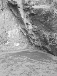 Entrance to the stone cave.